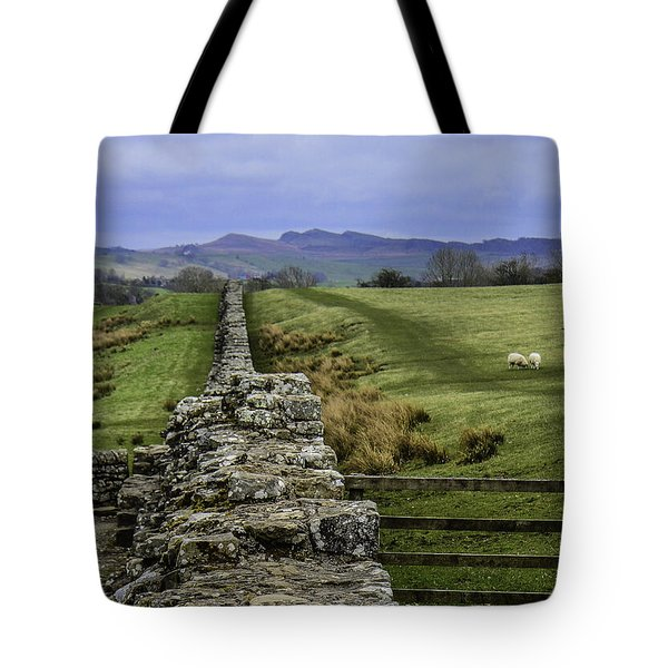 Hadrian's Wall Tote Bag by Mary Carol Story