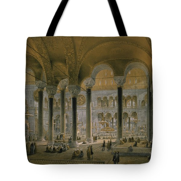 Haghia Sophia, Plate 6 The North Nave Tote Bag by Gaspard Fossati