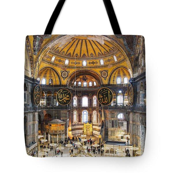 Hagia Sofia Interior 35 Tote Bag