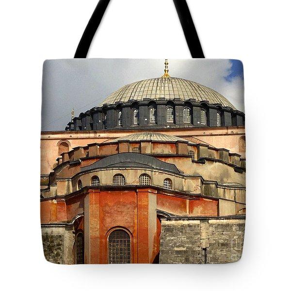 Hagia Sophia Ayasofya Meydani Byzantine Basilica Later Imperial Mosque Istanbul Turkey Tote Bag by Ralph A  Ledergerber-Photography