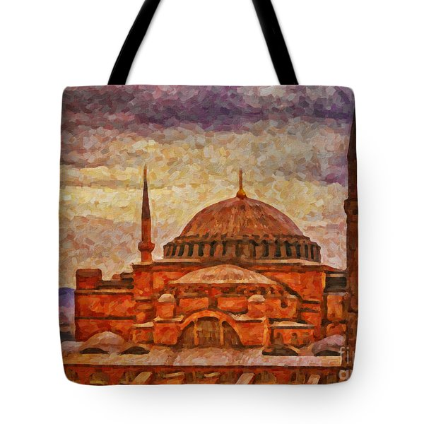 Hagia Sophia Digital Painting Tote Bag