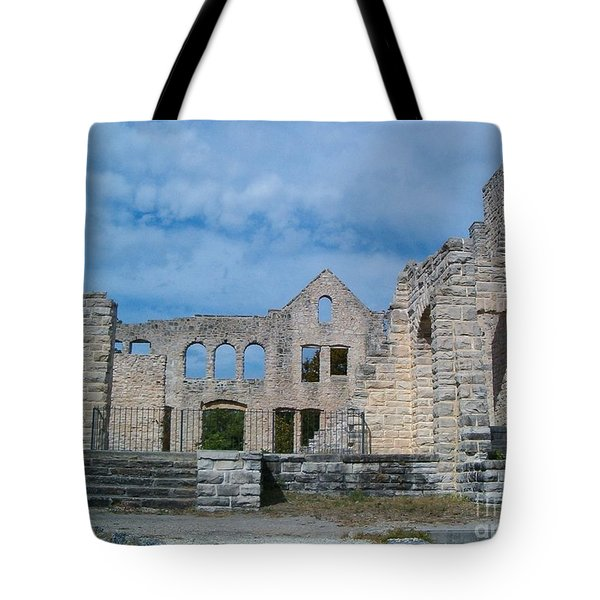 Tote Bag featuring the photograph Haha Tonka Castle 1 by Sara  Raber