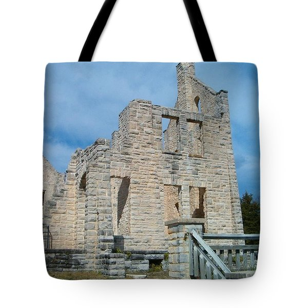 Tote Bag featuring the photograph Haha Tonka Castle 2 by Sara  Raber
