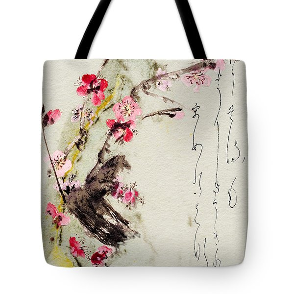 Haiga My Spring Too Is An Ecstasy Tote Bag