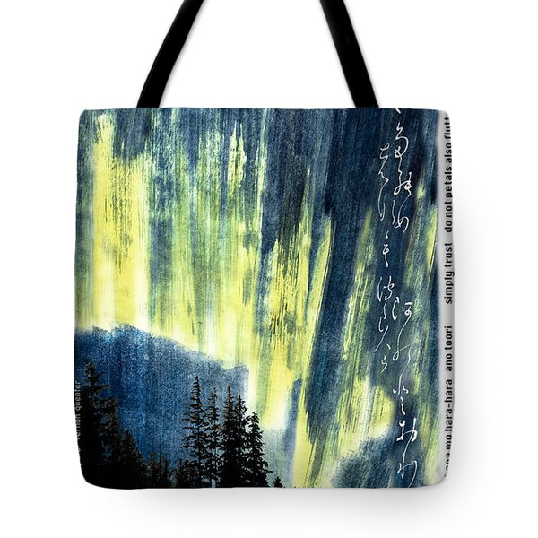Tote Bag featuring the photograph Haiga Poster Haiku Canada Conference  by Peter v Quenter