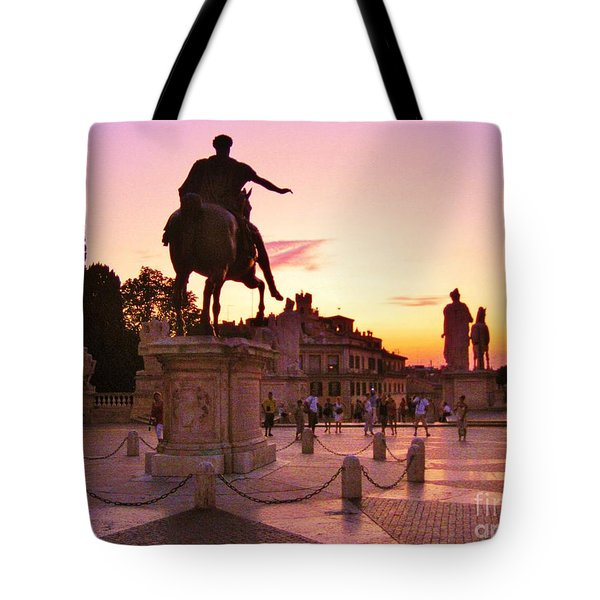 Hail To All The Little Tourists Tote Bag by John Malone