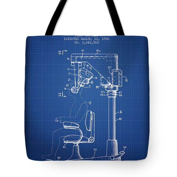 Hair Cutting Machine Patent From 1966 - Blueprint Tote Bag