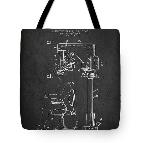 Hair Cutting Machine Patent From 1966 - Charcoal Tote Bag