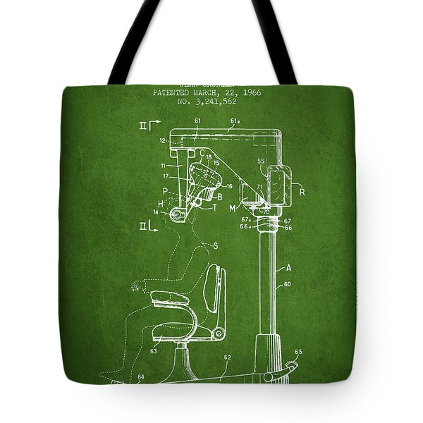 Hair Cutting Machine Patent From 1966 - Green Tote Bag