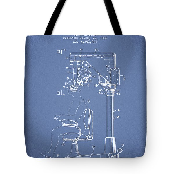 Hair Cutting Machine Patent From 1966 - Light Blue Tote Bag