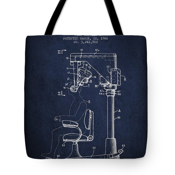 Hair Cutting Machine Patent From 1966 - Navy Blue Tote Bag