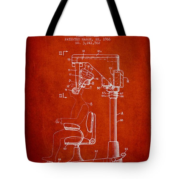 Hair Cutting Machine Patent From 1966 - Red Tote Bag