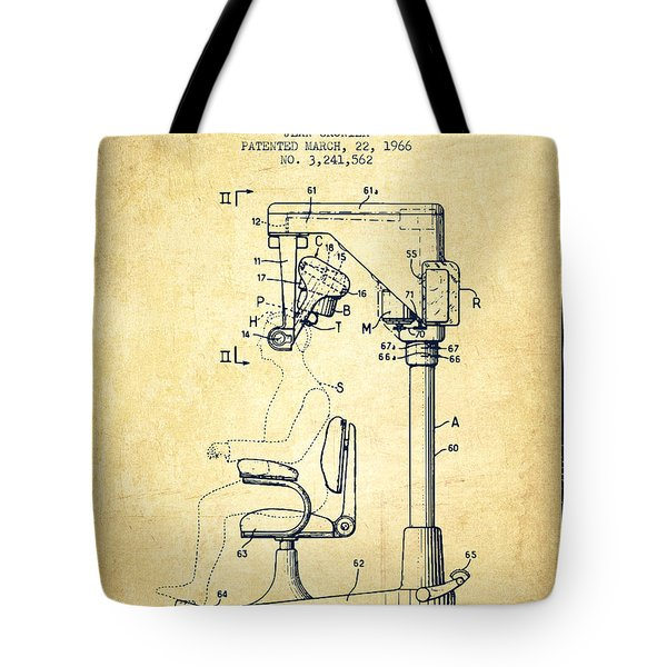 Hair Cutting Machine Patent From 1966 - Vintage Tote Bag