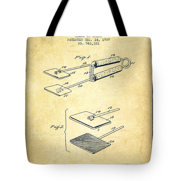 Hair Straightener Patent From 1909 - Vintage Tote Bag
