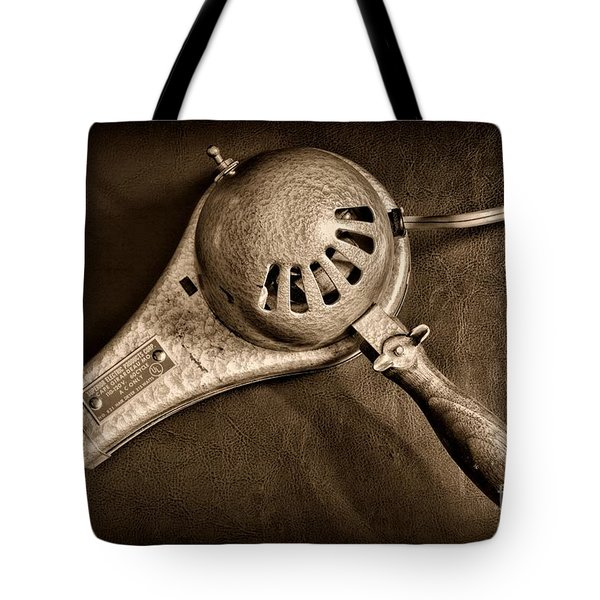 Hair Stylist - Vintage Hair Dryer - Black And White Tote Bag