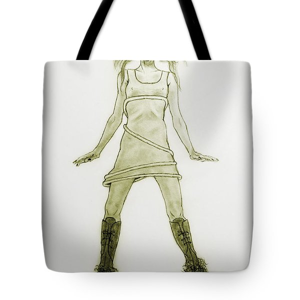 Hairy Boots Tote Bag