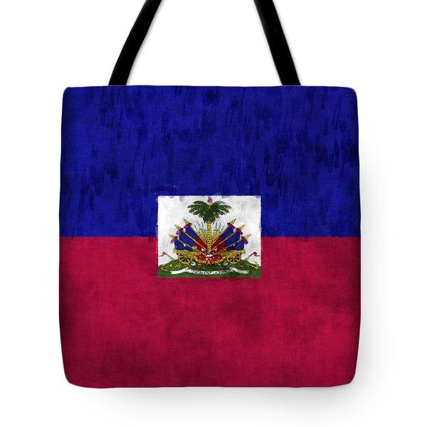 Haiti Flag Tote Bag