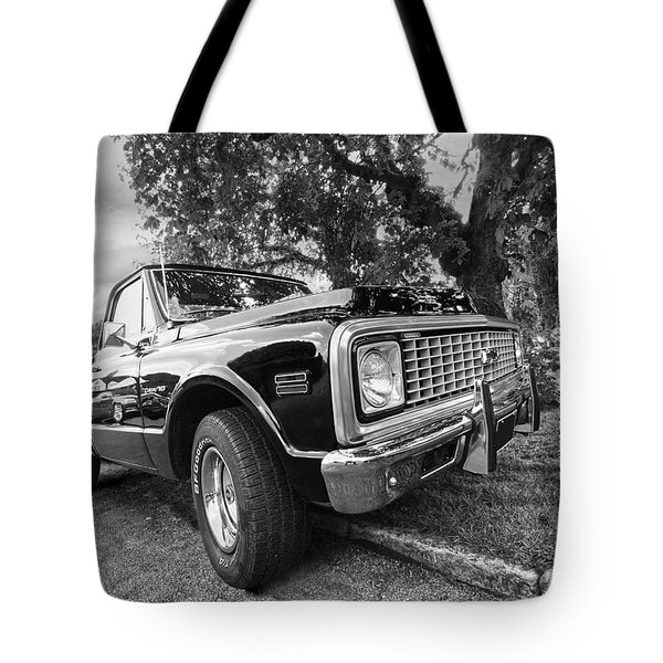 Halcyon Days - 1971 Chevy Pickup Bw Tote Bag