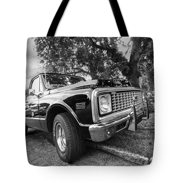 Halcyon Days - 1971 Chevy Pickup Bw Tote Bag