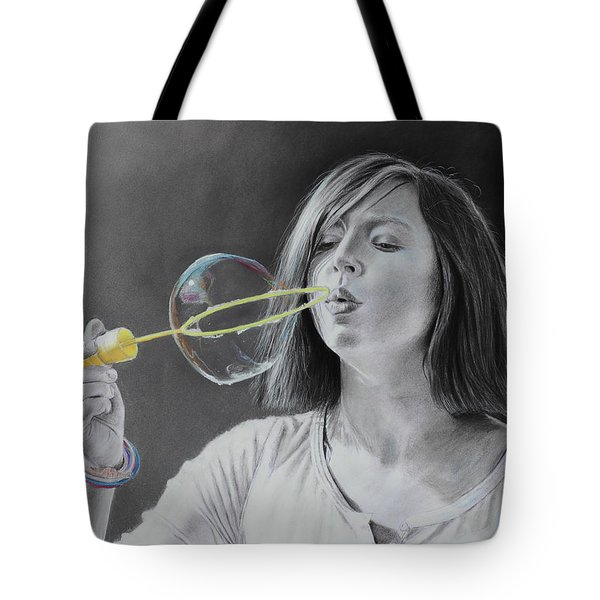 Bubble Girl Tote Bag