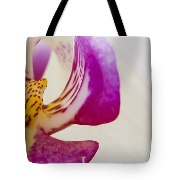 Half An Orchid Tote Bag by Anne Gilbert