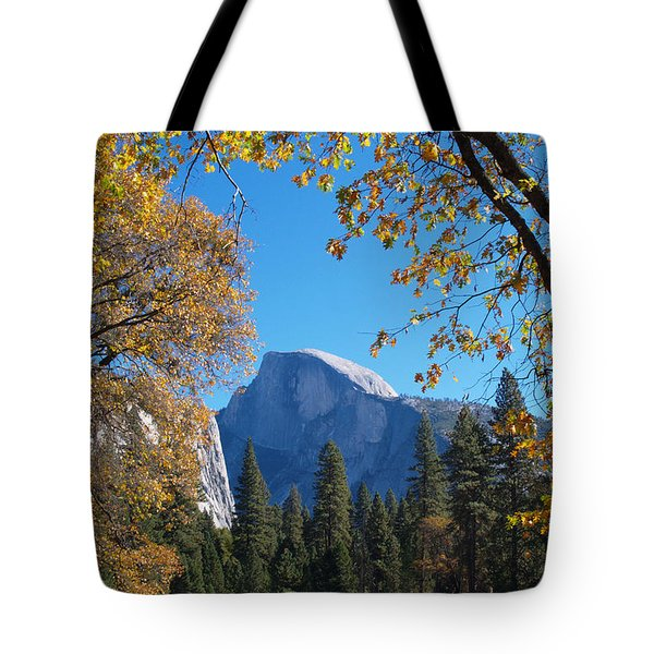 Half Dome In Yosemite Tote Bag by Alex Cassels