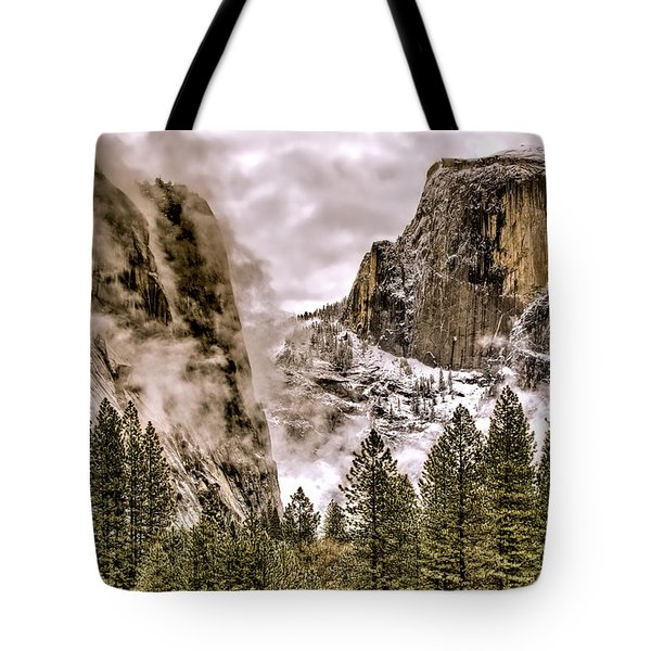 Menacing Rocks Tote Bag