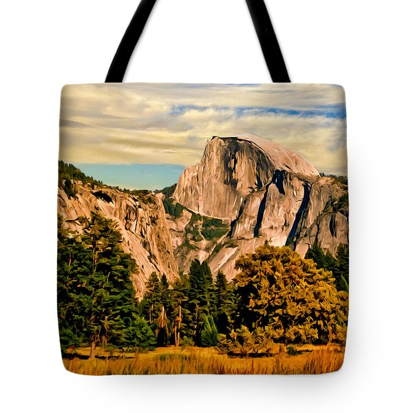 Half Dome Painting Tote Bag by Bob and Nadine Johnston