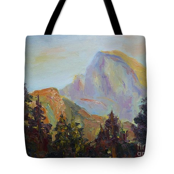 Half Dome View Tote Bag by Carolyn Jarvis