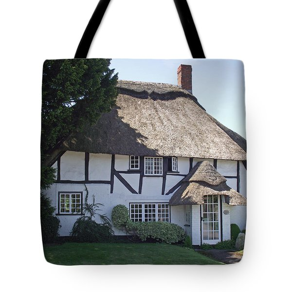 Half-timbered Thatched Cottage Tote Bag