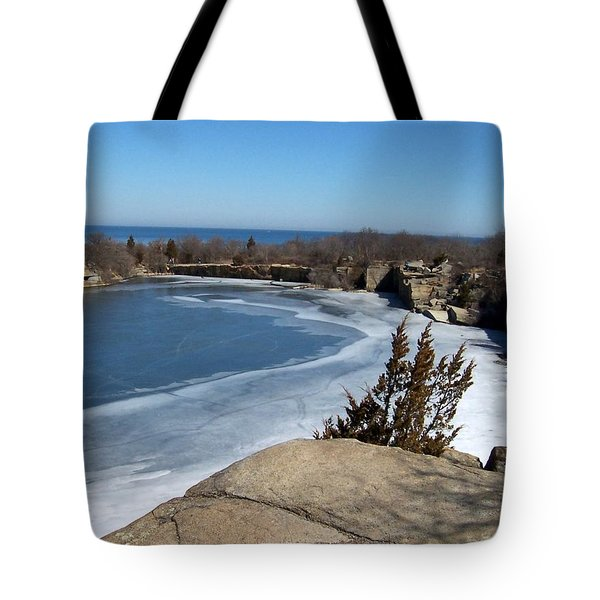 Icy Quarry Tote Bag by Catherine Gagne
