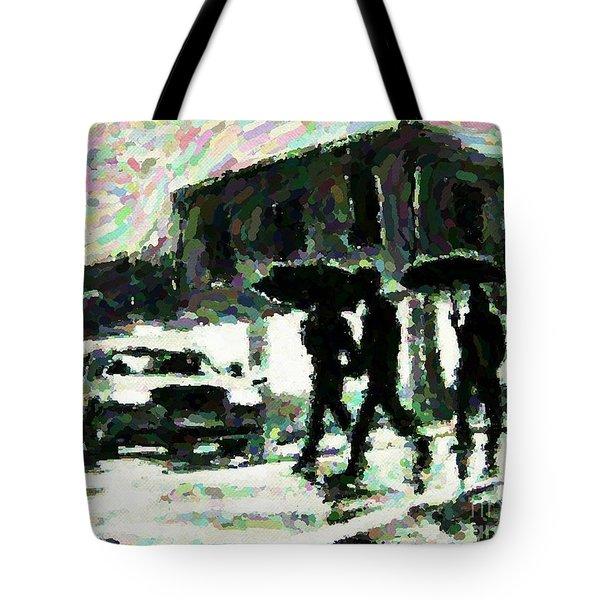 Halifax In The Rain One Tote Bag by John Malone