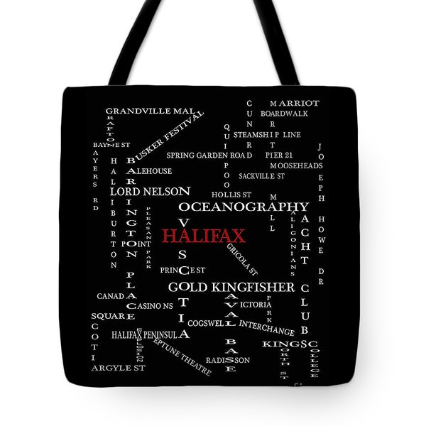 Halifax Nova Scotia Landmarks And Streets Tote Bag