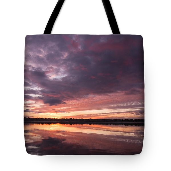 Halifax River Sunset Tote Bag by Paul Rebmann