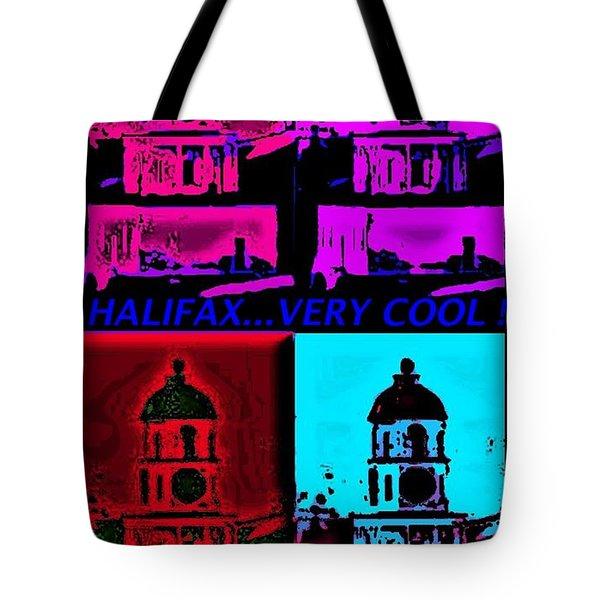 Halifax Very Cool Pop Art Tote Bag by John Malone