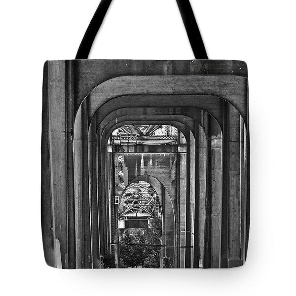 Hall Of Giants - Beneath The Aurora Bridge Tote Bag