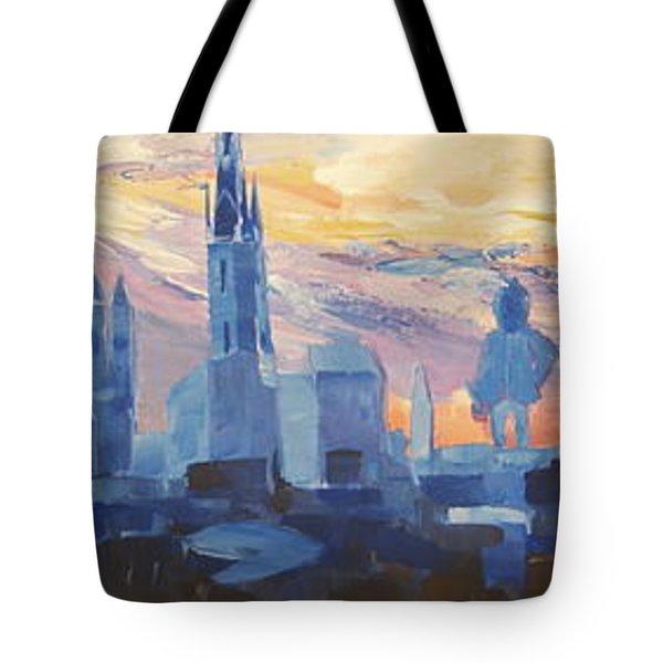 Halle Saale Germany Skyline Tote Bag by M Bleichner