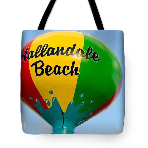 Hallendale Beach Water Tower Tote Bag