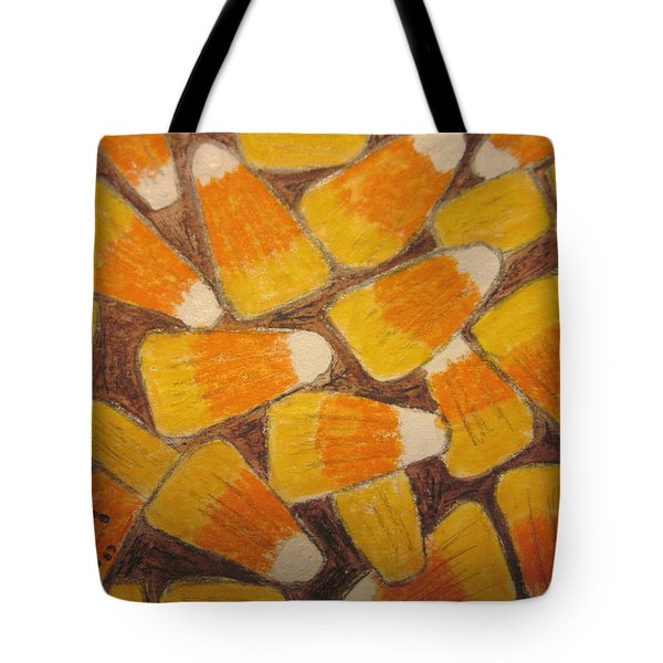 Halloween Candy Corn Tote Bag by Kathy Marrs Chandler