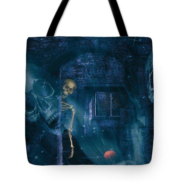 Halloween Double Exposure Tote Bag