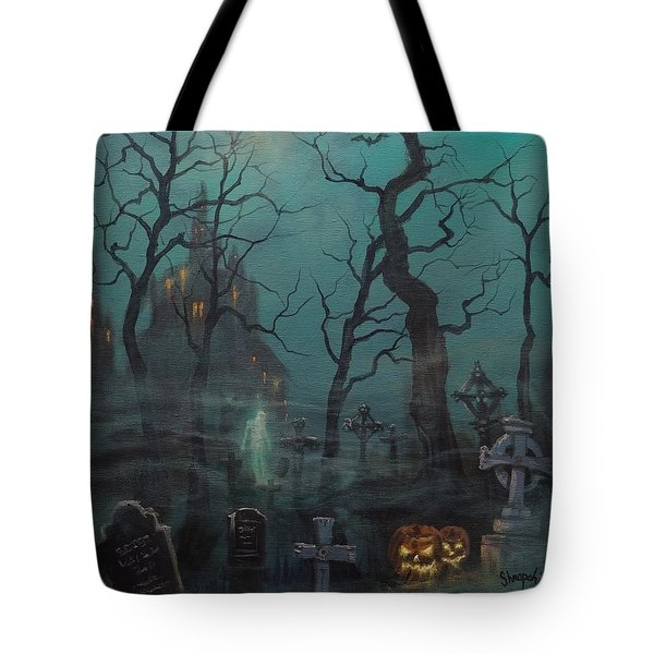 Halloween Ghost Tote Bag by Tom Shropshire
