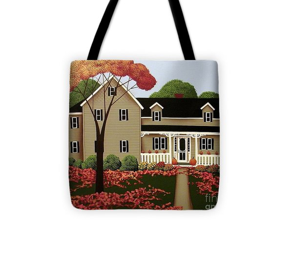 Halloween In Fallbrook Tote Bag by Catherine Holman