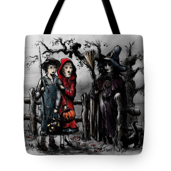 Halloween Night Tote Bag by Rachel Christine Nowicki