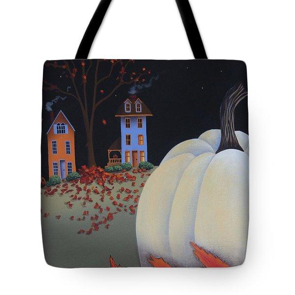 Halloween On Pumpkin Hill Tote Bag by Catherine Holman