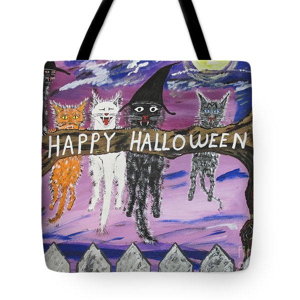 Halloween Scaredy Cats Tote Bag