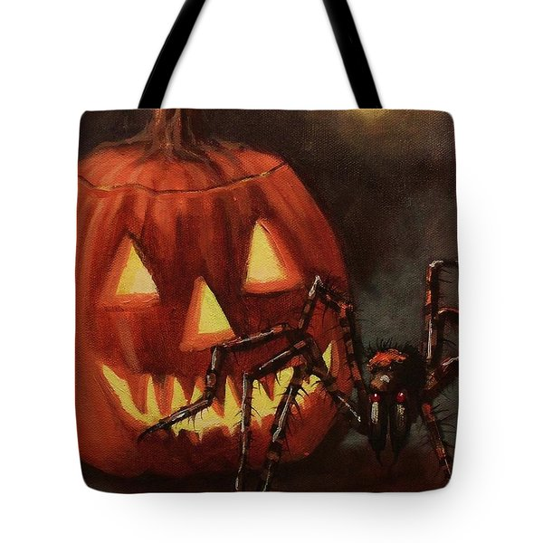 Halloween Spider Tote Bag by Tom Shropshire