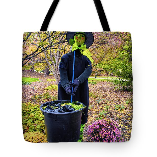 Halloween Witch Tote Bag by Thomas Woolworth