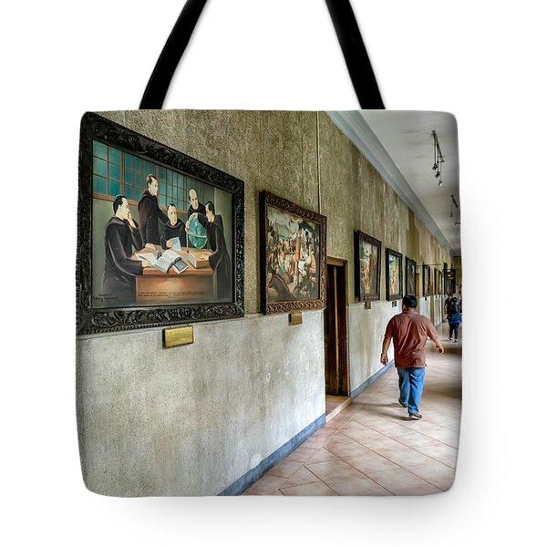 Hallway Of Paintings Tote Bag