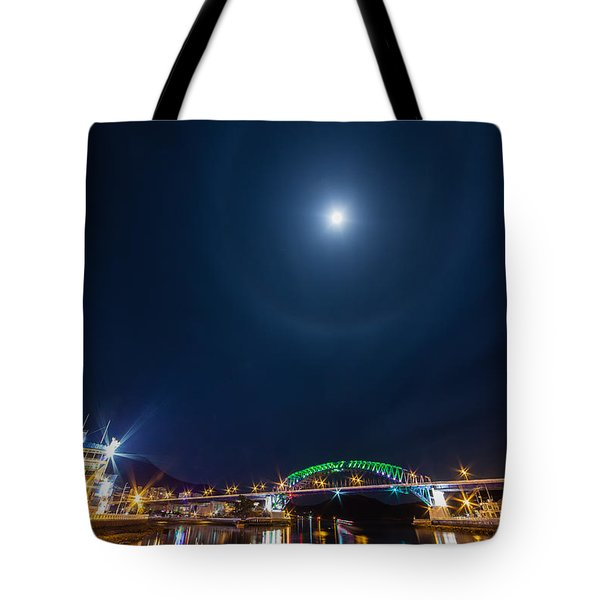 Halo Above The Bridge Tote Bag