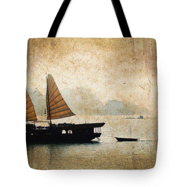 Halong Bay Vintage Tote Bag